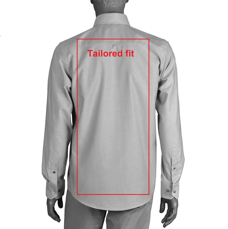 Balti vyriški marškiniai su sąsagomis