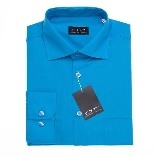 Mėlyni klasikiniai vyriški marškiniai DRESDEN BLUE