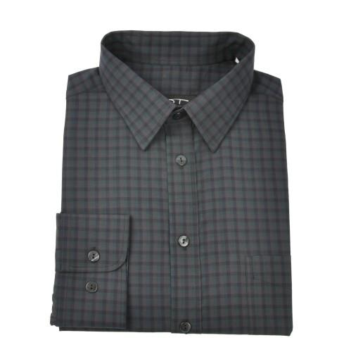 Medvilniniai marškiniai smulkiais langeliais NORVISCH, žalia/pilka//juoda spalvos
