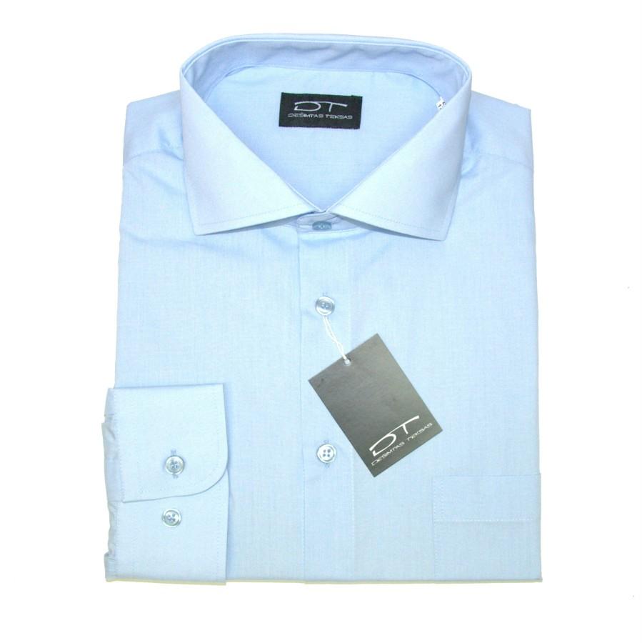 Melsvi  marškiniai ilgomis rankovėmis 1274