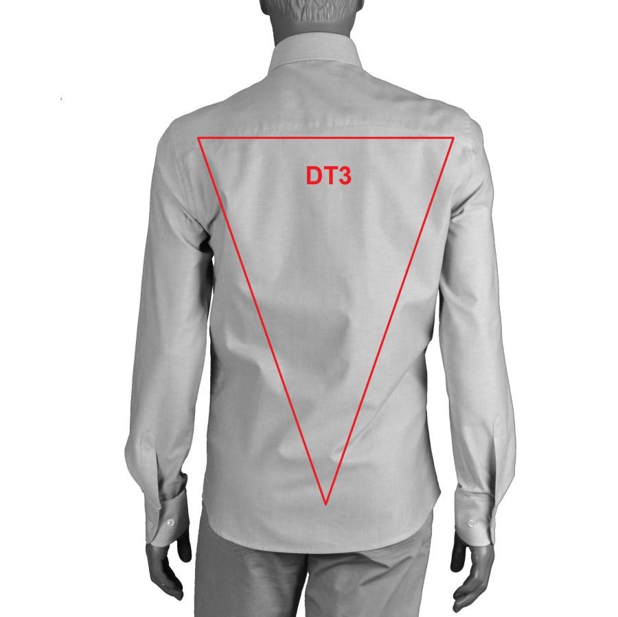 Blyškiai melsvi vyriški marškiniai OXFORD 01