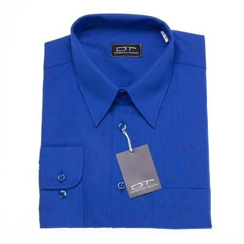 Karališkos mėlynos spalvos marškiniai ilgomis rankovėmis ROYAL BLUE