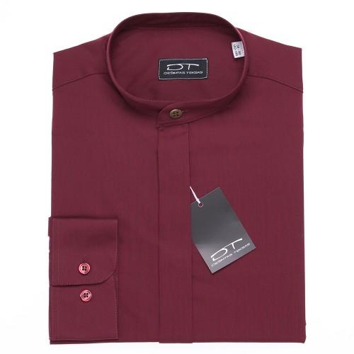 Klasikiniai  rudi marškiniai MAROON su stove arba klasikine apykakle