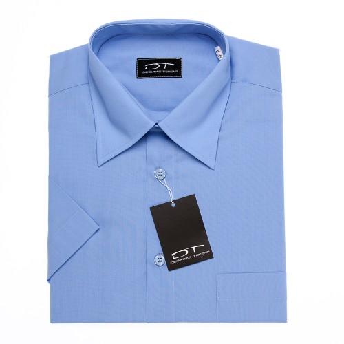 Melsvi klasikiniai marškiniai trumpomis rankovėmis MD BLUE