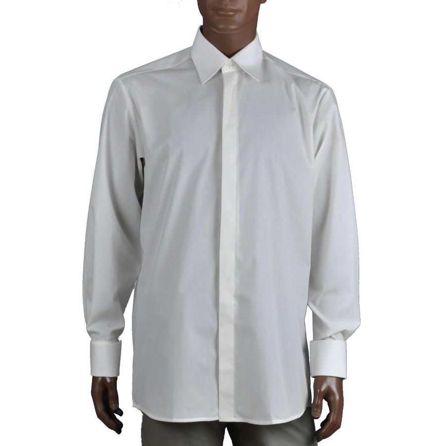 Kreminiai marškiniai su sąsagomis Marshmallow
