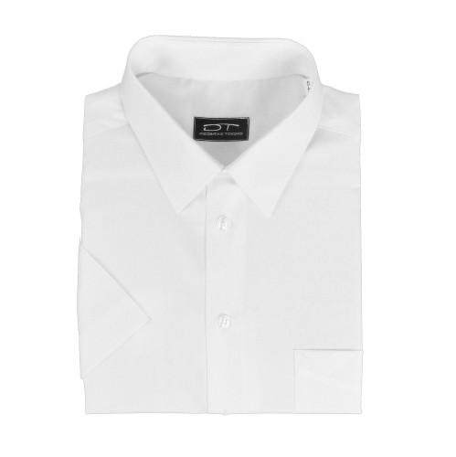 Balti klasikiniai marškiniai trumpomis rankovėmis PIKET 01