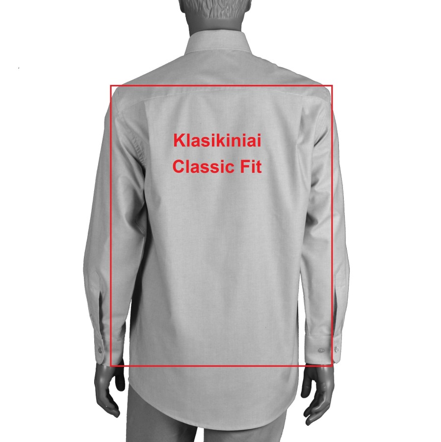 Black dress shirt with classic collar 4849