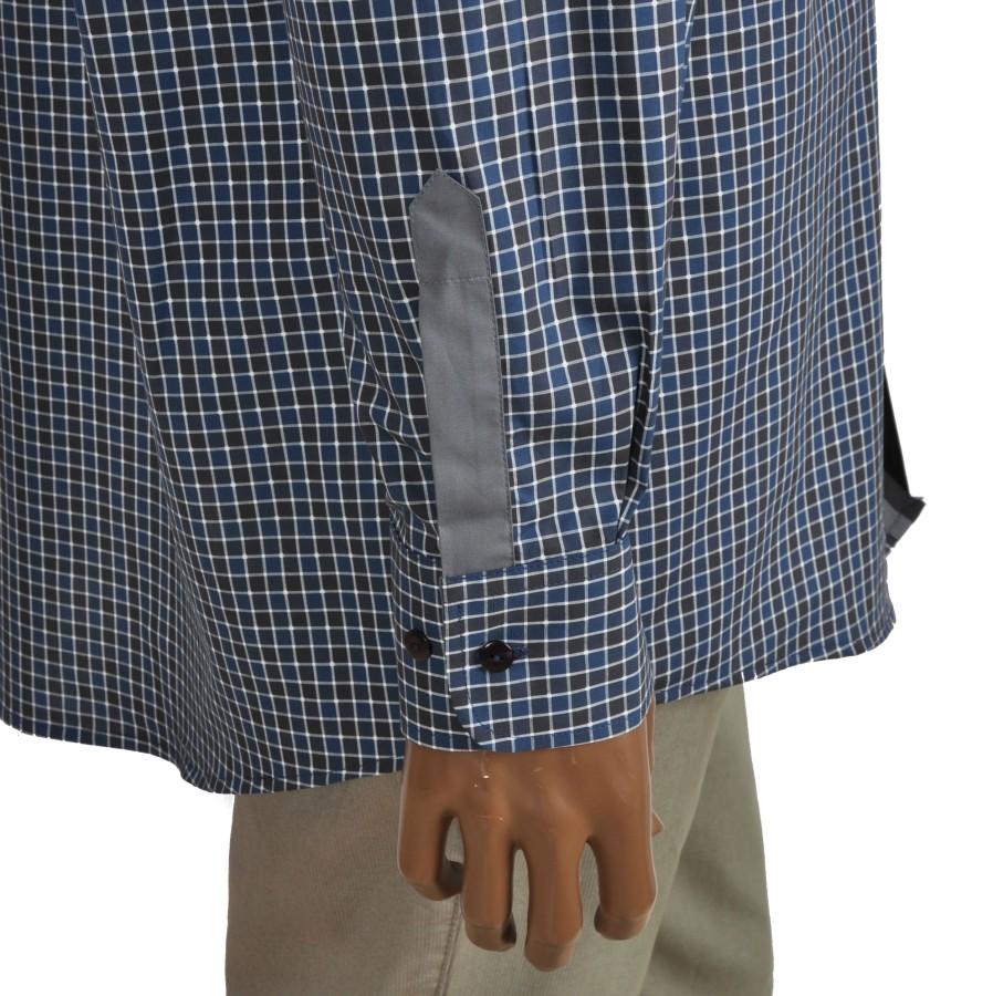 Cotton dress shirt RAINBOW in green/navy checkers