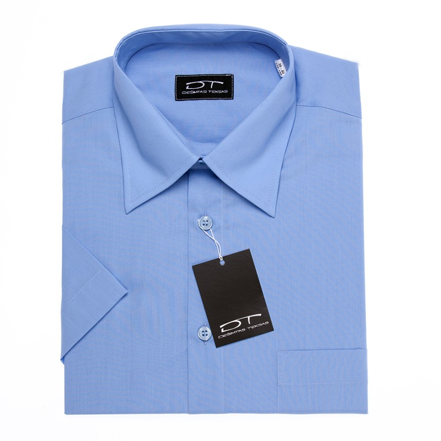 Blue dress shirt with short sleeves MD BLUE